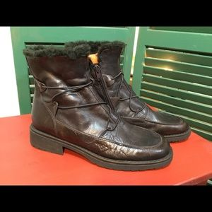 Volta brown leather boots
